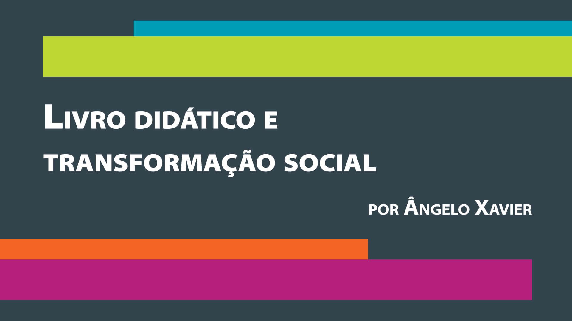 Livro didático e transformação social